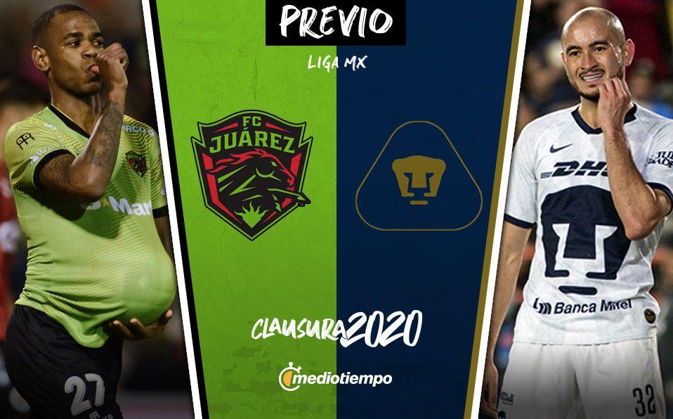 Aventurero Organizar Juventud  FC Juárez vs Pumas: información previa, Jornada 2 Clausura 2020 -  Mediotiempo