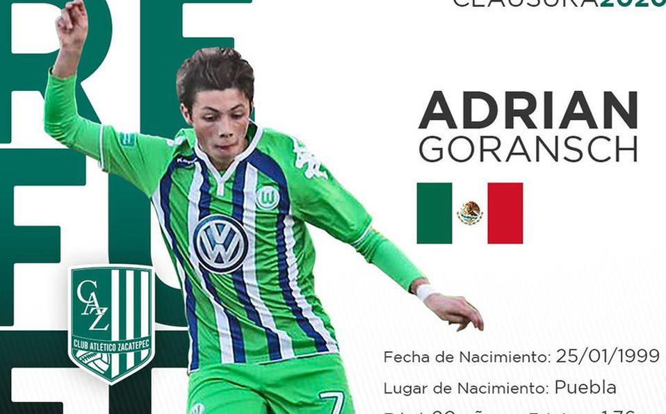 Adrian Goransch Jugador Que America Quiso Es Refuerzo Del Zacatepec Mediotiempo