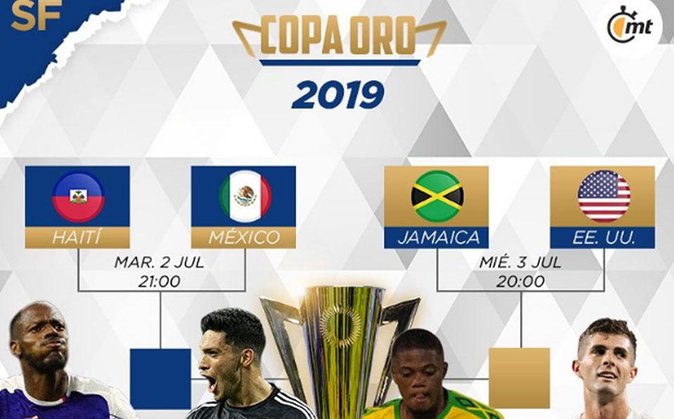 Semifinales de la Copa Oro 2019; horarios y fechas de los ...