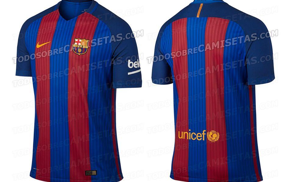 d797083dc3054 La que será la playera del Barça para la 2016-17.