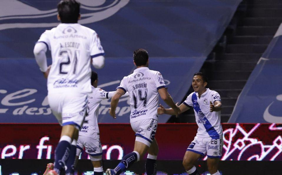 Salvador Reyes marcó el segundo de Puebla (Imago7)