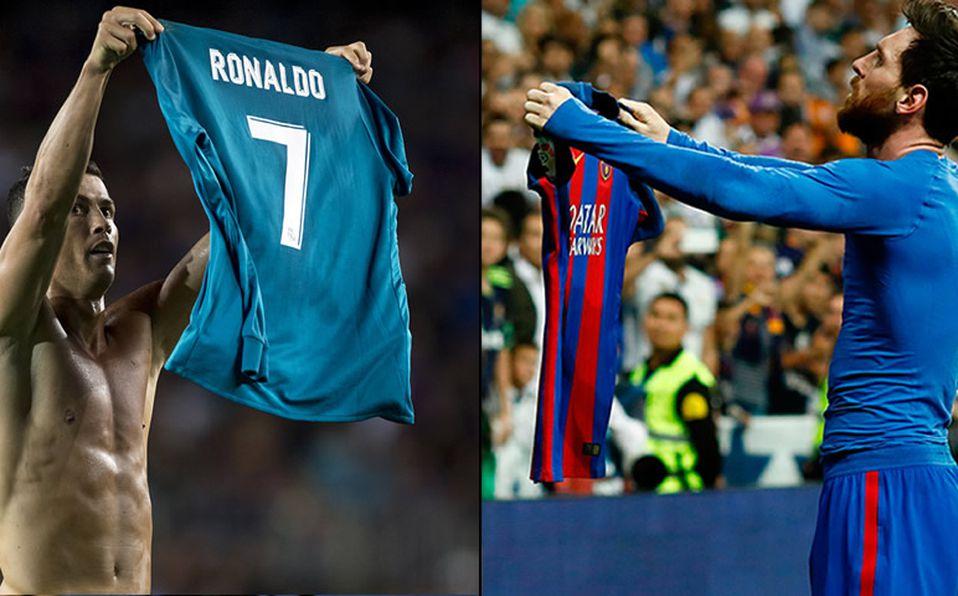 Cristiano se quitó la playera y  vengó  festejo de Messi 8528b5432082b