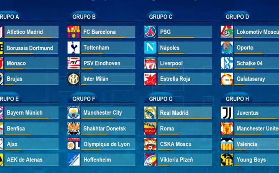 Calendario Uefa Champions League.Calendario Y Horarios Confirmados Para La Champions League