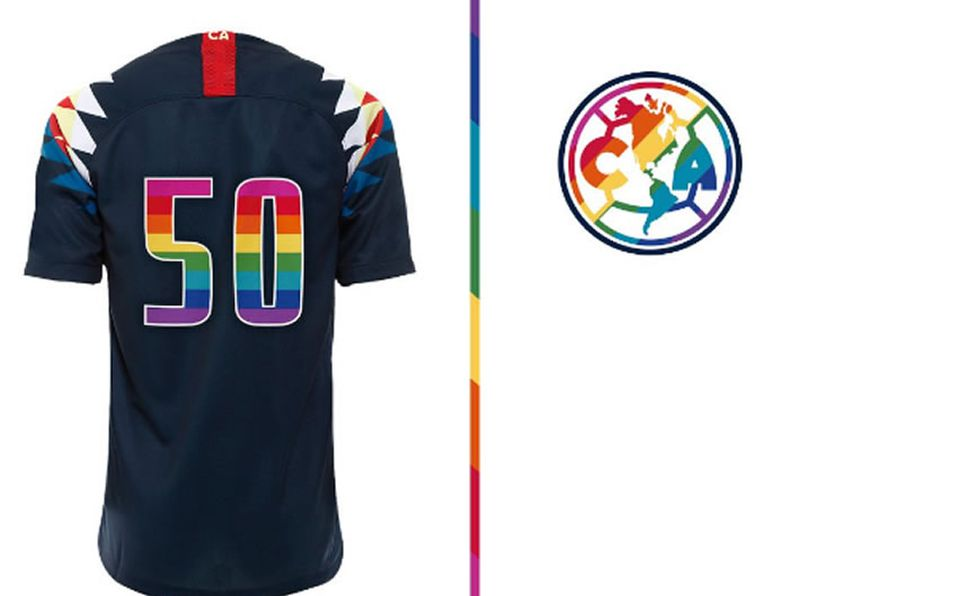 check out 9b9c6 37f1b Club América se pinta con colores del arcoíris por el ...