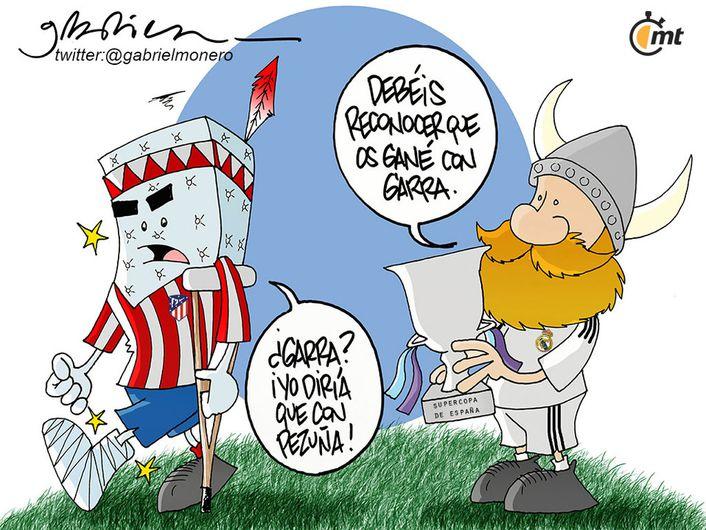 Real Madrid Y Sus Manas Ganadoras Vs Atletico De Madrid Carton Mediotiempo