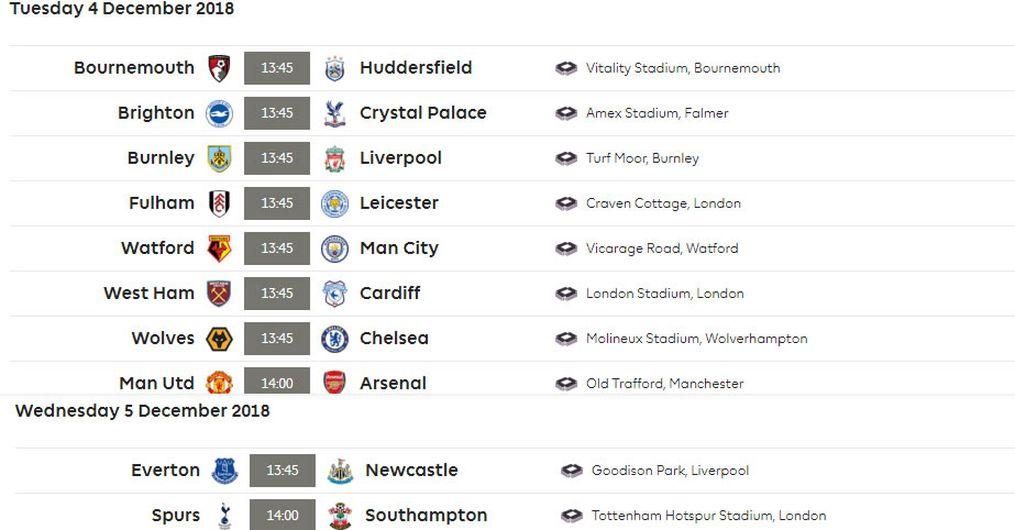 Premier League Calendario.Calendario Premier 2019 13 Ikbenalles