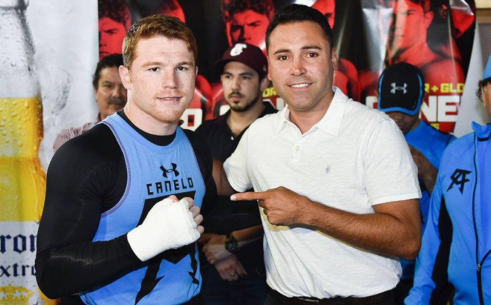Óscar de la Hoya desea boxear contra el Canelo Álvarez y Floyd Mayweather