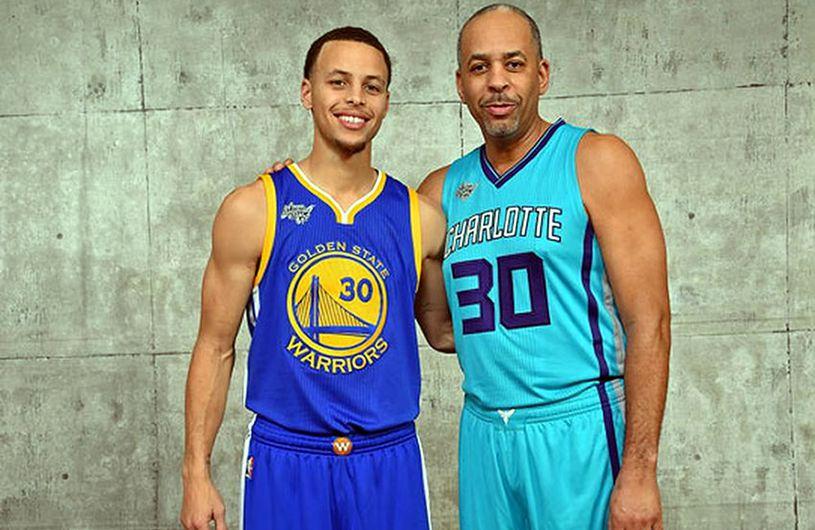 Dell Curry y su hijo Stephen Curry
