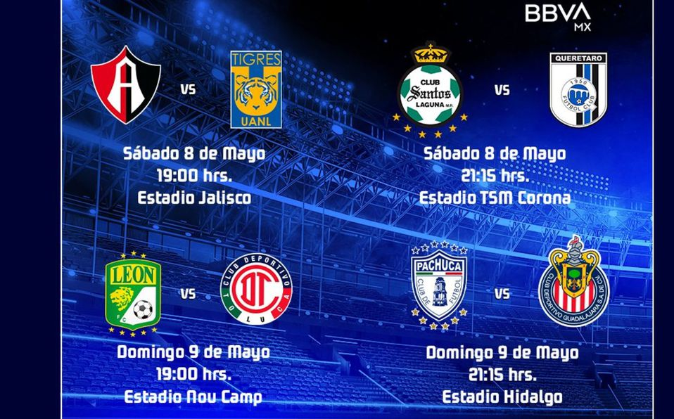 19:00 y 21:00 horas se jugarán los duelos del Repechaje. Foto: Liga MX