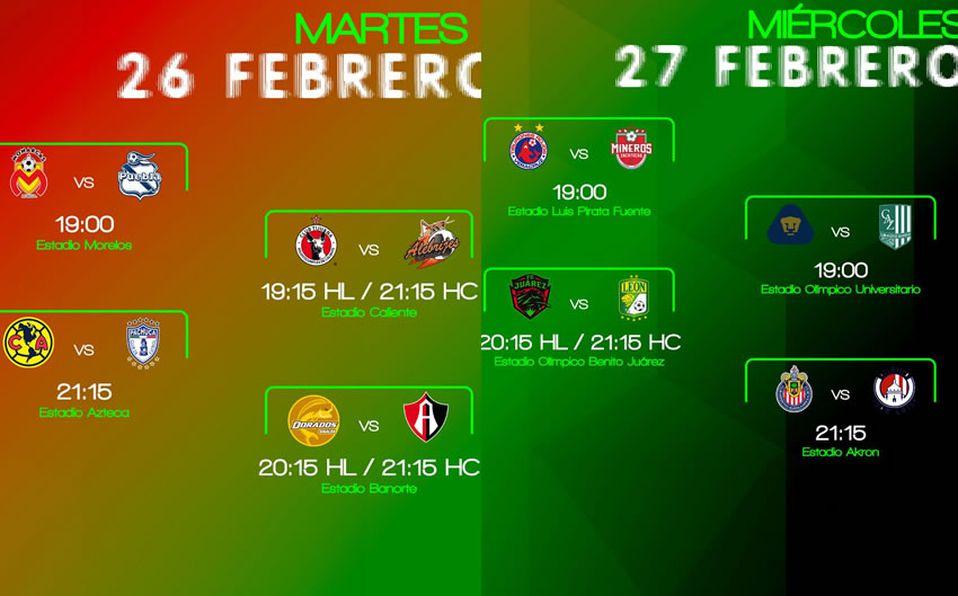 Calendario Final 2019.Copa Mx Calendario Fechas Y Horarios Octavos De Final
