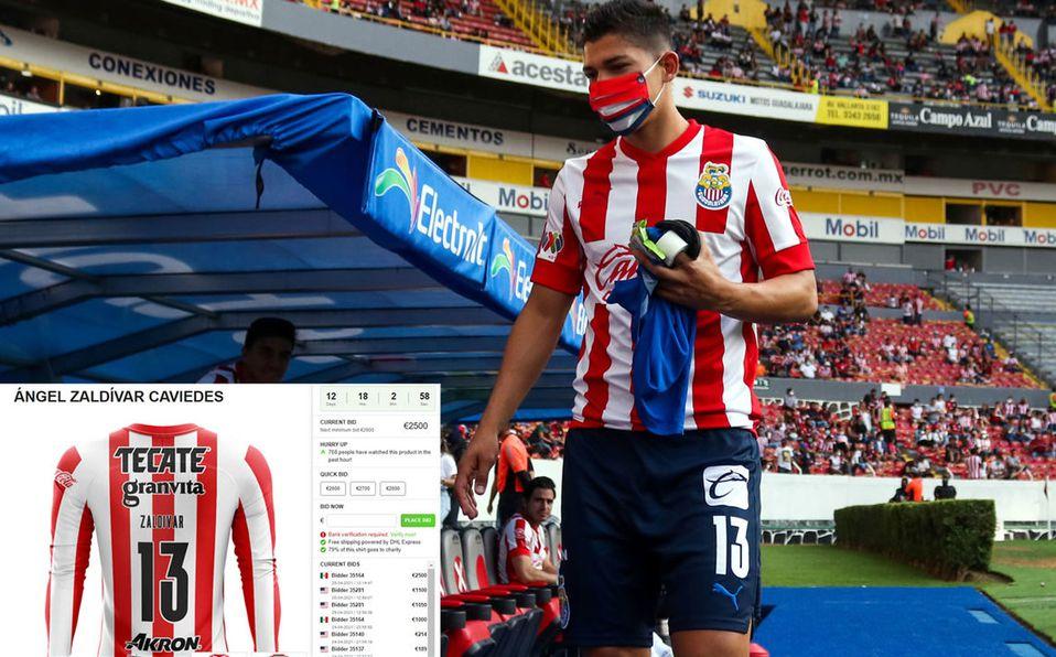 Ofertan 60 mil pesos por la playera de Zaldívar con la que anotó en Cl -  Mediotiempo