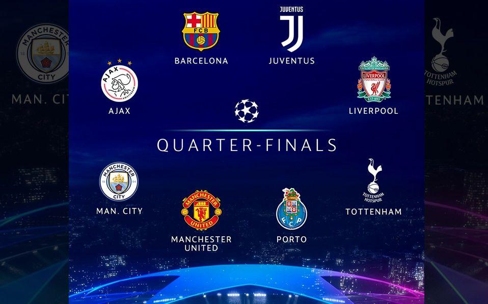 Champions League 2018-2019 Cuartos de Final: 8 equipos clasificados ...